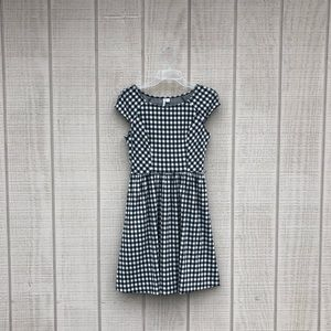 Elle preppy black cream gingham fit & flare dress